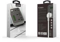 LDNIO SC3604 3 소켓 콤보 6 USB 데스크탑 전원 충전기 소켓 10A 정격 전류와 2m 전원 코드에서 홈 / 오피스를 사용하는