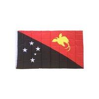 황동 그로멧 송료 무와 파푸아 뉴기니 깃발 3x5FT 150x90cm 폴리 에스터 인쇄 실내, 실외 행잉 뜨거운 판매 국기