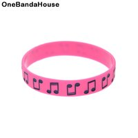 1PC New Design Music Note Silicone Rubber Wristband Perfect ...