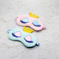 Prenses Taç Uyku Maskesi Uyku göz maskesi sevimli kirpik Göz maskesi Blinder Parti Maskeleri Çocuklar Kız Kadınlar için Uyku Körü Körüne Nap Kalkan