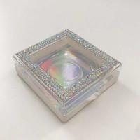 25 mm 3D 27mm 3D Peachas de visón 3D Paquete personalizado Glitter Vacío Rhinestone Caja Venta caliente Venta natural 5D Mink Falsohes
