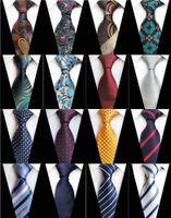 새로운 디자인 격자 무늬 자카드 직물 실크 남성 남성 비즈니스 정장 비즈니스 결혼식 파티에 넥타이 목에 넥타이 8cm 스트라이프 넥타이