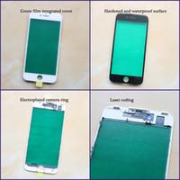 iPhone 6G 6S 6S Artı 7G İçin Frame 7plus 8 8g 8 Plus LCD Ön Dokunmatik Ekran Cam Çerçeve + Çerçeve Paneli Sayısallaştırıcı Sensör Parçaları ile Dış Cam