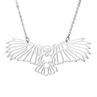ZTT001 Meilleures ventes 2020 dernière conception de hibou Forme exquis animal géométrique Pendentif en acier inoxydable Collier pour bijoux cadeau