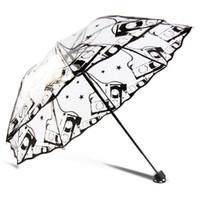 맑은 귀여운 거품 딥 돔 우산 바람 저항 아치 우산 투명 버섯 모양의 잡초 장식 파티 파라솔 방수