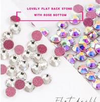 1440 adet Düz Geri Tırnak Rhinestone Gül Altında DIY Craft Elbise Kristal Çiviler Rhinestones Dekorasyon Taşlar