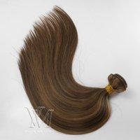 Vmae Piano Colore # 4 # 6 di trama dei capelli di trama disegnata doppio 3 pacchi / lotto diritto di seta morbida Remy del Virgin di estensioni dei capelli umani