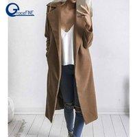 2018 Winter Vintage mit Kapuze Trenchmantel für Frauen Windjacke Langarm Lose Große Größe Übergroße Frauen Mäntel Frau Casual1
