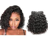 인간의 머리카락 묶음 자연 물결 모양의 물 파도 변태 스트레이트 kinkycurl hairweaves weft girgin haircextensions