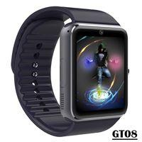 GT08 ساعة سمارت بلوتوث مع فتحة بطاقة SIM وشاهد NFC الصحي لالروبوت Samsung Smartphone سوار SmartWatch