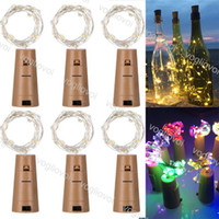 LED-Schnur-Licht Flaschenverschluss Silber 1M 10LED 2M 20LED Fairy Band Draht Outdoor Partydekoration Cork Lichterkette EPACKET