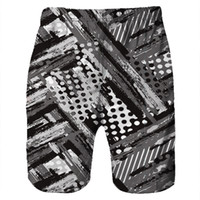 swimwear boy swimming Men Casual 3D Graffiti Printed Beach W...