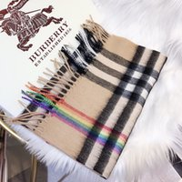 With Roll Tube Box Rainbow Memorial Brand Scarf 100% Cashmer...
