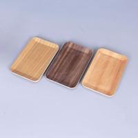 Neueste Anzeige Holz Farbe Grinder Salver Handroller Platte Rollenablage Innovatives Design Tragbare Rauchen Werkzeug Heißer Kuchen