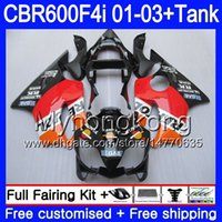 Body + Tank for HONDA CBR 600 F4i CBR 600F4i CBR600FS 600 FS 286HM.5 CBR600F4i 01 02 03 CBR600 F4i Repsol orange hot 2001 2002 2003 Fairings