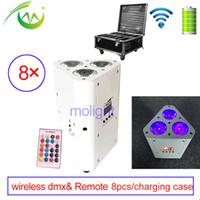 Wireless DMX Uplight 3 * 18W RGBWA UV DJ Par Akkus Power Led Up Beleuchtung LED Wall Waschmaschine Hochzeitsfest Uplightings