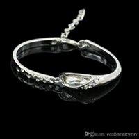 BRACCIALE per le donne 2016 gioielli di moda dei cristalli Nuovo di prezzi bassi braccialetto delle donne Blue Silver Charm Bracciali belle Bangles