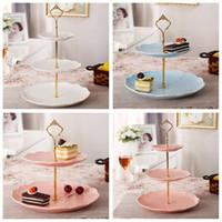 1/2/3Tierステンレス鋼カップケーキスタンドケーキツール結婚式の誕生日ケーキディスプレイタワーフルーツプレートハンドルフィッティングハードウェアロッドプレート