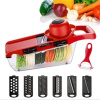 vegetable slicer cutter with 6Pcs interchangeable stainless ...