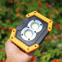 Portable Work Floodlight Tent Camping Light 20W USB Rechargeable COB LED Searchlight Spotlight or18650 battery
