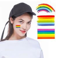 Fluoreszenz-Regenbogen-Tätowierungs-Aufkleber-Gesichts-kosmetischer reizender Körper-Kunst-temporärer bunter Aufkleber SH190724