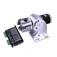 3 مخالب محور دوار ماكس 80mm ولوحة ألياف الليزر آلة وسم 20W 30W 50W الليزر الألياف المعدنية النقش استخدام الجهاز مع مجلس حملة