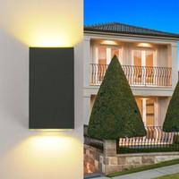 Moderno minimalista 10W ha condotto la lampada da parete AC220V 110V impermeabile IP65 alluminio all'aperto coperta soggiorno camera da letto comodino luce
