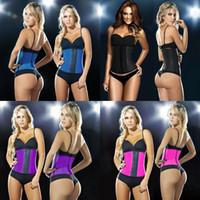 Sport Taille Unterstützung Gummi Korsett Etagenschicht Latex Gummi Trainer Lady Body Hülle Abnehmen Bodybuilding 34DLF1