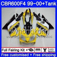 Cuerpo + Tanque para HONDA CBR 600 F4 FS CBR 600F4 CBR600F4 99 00 Amarillo claro caliente 287HM.28 CBR600FS CBR600 F 4 CBR600 F4 1999 2000 kit de carenado
