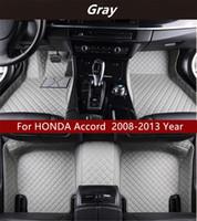 HONDA Accord 2008-2013 yılı Araç İç Ayak Mat Kaymaz Çevre Koruma Tatsız Toksik olmayan Kat Mat İçin