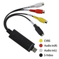 TCT 1pc Easycap USB 2.0 Video Capture TV DVD VHS Video DVR Scheda di acquisizione con supporto audio PC per telecamera CCTV