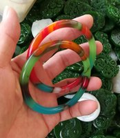 56-60mm chinês natural colorido jade pulseira entrega gratuita B7