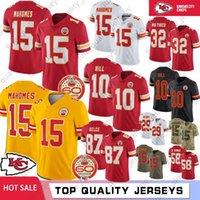 15 Patrick Mahomes II Men Kansas City jerseys Jefe jerseys 10 87 Tyreek Hill Travis Kelce 32 Tyrann Mathieu 29 50 Berry Houston cosido