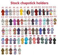 US Stock 33Colors Pattern Pattern Capstick Holder Handy Lip Balm Holder Portachiagna Portachiagna per chapstick Lipstick Tracker SafeGuard Novelty Regalo