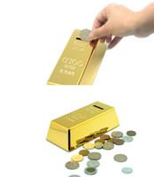 Tirelire en lingot d'or, or fin 999,9, décoration de poids net 1000G sur le dessus de la barre, tirelire en brique