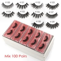 SHIDISHANGPIN gros Cils en vrac Mink Lashes Make Up Vison Cils gros Faux maquillage naturel faux cils