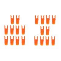 20Pcs di plastica di colore arancione Tiro con l'arco arco freccia Inserire Pin Nock ALBERO CODE