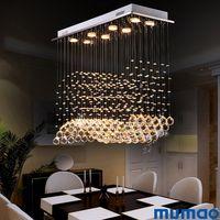 K9 LED Crystal Crystal Chasteliers Светильник Современная лампа для гостиной спальня Отель Прихожая крытая декоративная лестница потолок подвесной светильник
