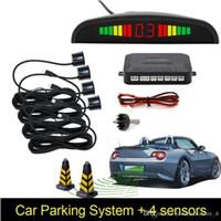 Carro Auto Parktronic LED Sensor de Estacionamento com 4 Sensores Reverse Backup Estacionamento Estacionamento Radar Monitor Detector Sistema Retroilumbar Exibição (varejo)