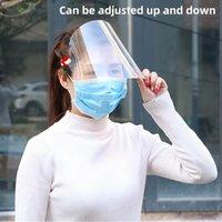 DHL frete grátis protetor ajustável Anti Gota Dust-proof da tampa Máscara Facial Visor Escudo Gota Windproof face Escudo lavável