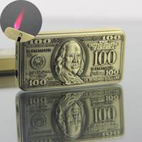 Originalidade 100 Dollar suspensa Tipo Lighter Windbreak Lighter Inflação Lighter