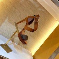 Классический сандалии Женский стиль лето 2020 Обувь Opentoe сандалии Металл кнопки Кожа Sexy на высоких каблуках Женщины Стиль Shoes 10,5 см Лар