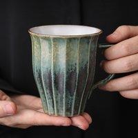 Taza del agua Oficina Copa grande de la vendimia de estilo europeo de gran capacidad taza de cerámica Retro simple de la taza de café