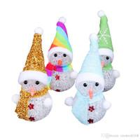 Светодиодный Снеговик Рождественский орнамент свет Рождественский отец олень медведь ночник детские игрушки рождественские подарки елка подвесные светильники