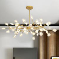 الديكور اليراع الثريا الإضاءة الحديثة فرع ضوء الثابت خمر Roomm معيشة / غرفة طعام مصباح معلق AC110-240V