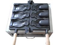 Satılık Ticari kullanım Dondurma Taiyaki yapımcısı balık koni waffle makinesi Yapma Makinası Balık koni makinesi