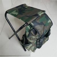캠프 접이식 의자 낚시 의자 야외 기사 휴대용 낚시 등산 가방 위장 유연 안티 착용 23 5YGF1