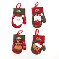 Ev Xmas için Tablo Noel Süslemeleri Yemek 2020 Yılbaşı Merry Christmas Eldiven Bıçak Çatal Bıçak Takımı Etek Pantolon Navidad Natal