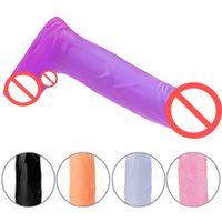 4,5 pulgadas realista mini consolador con bolas de colores 5 estimulador del punto G del pene artificial anal enchufes enchufe del extremo sexo juega para las mujeres