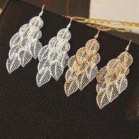 Bohemian gold metal long drop Multi-layer hollow tassel earrings summer women accessories leaf earings fashion jewelry 2020